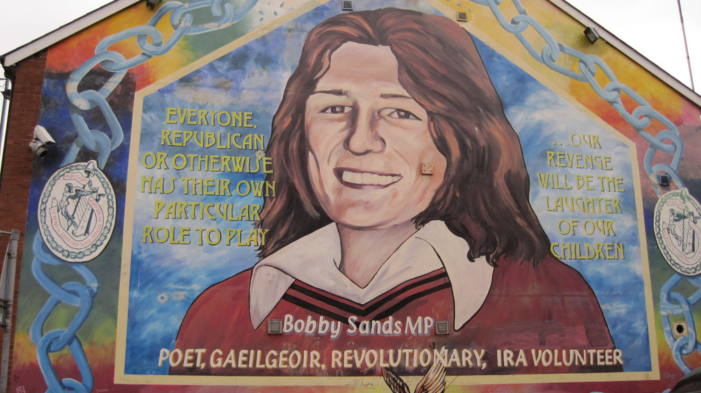 Bobby Sands Mural by Glynnis 2009 Flckr