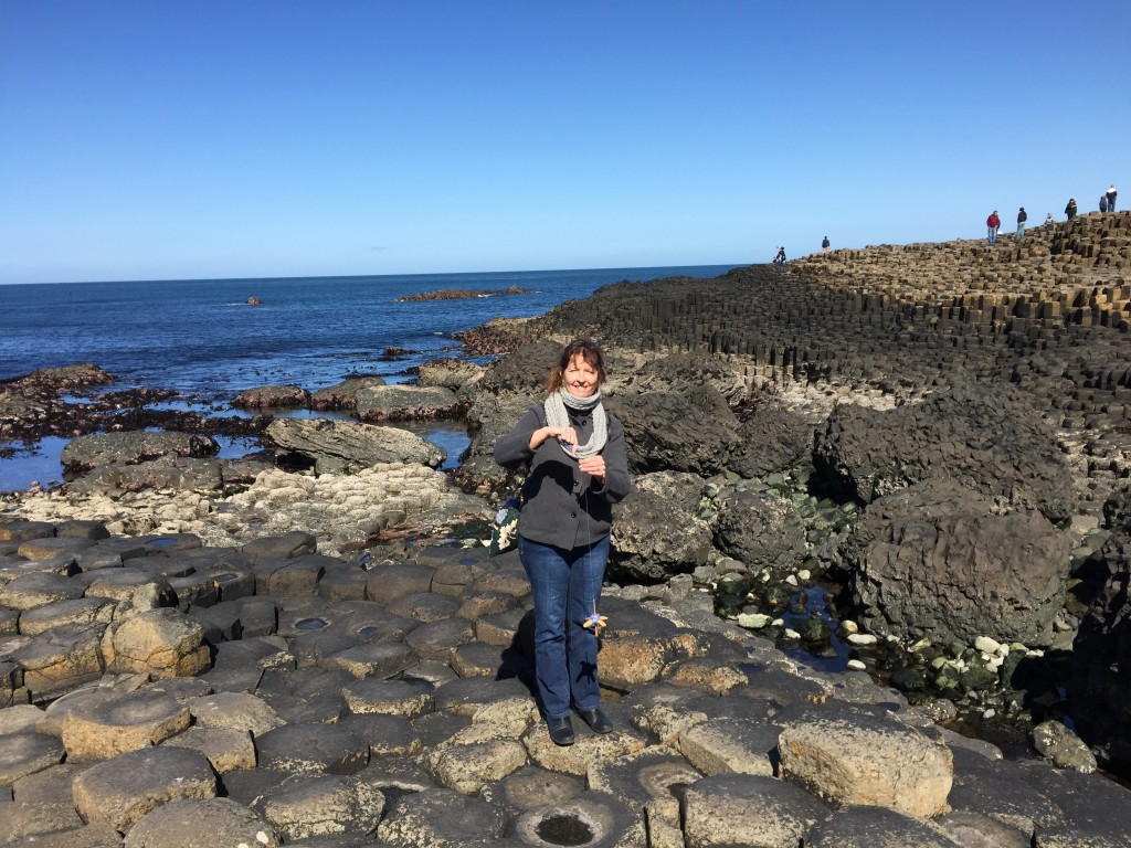 Constance at the Giant's Causeway