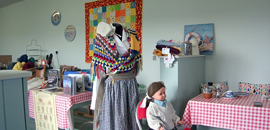 Knitting Tours of Ireland - Aran Islands Traditional Dress Display