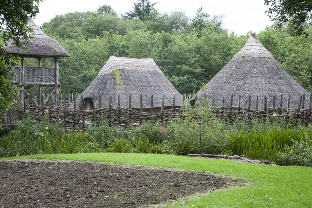 Places to visit in Clare. Craggaunowen Pre-Historic Folk Park, County Clare, Ireland.