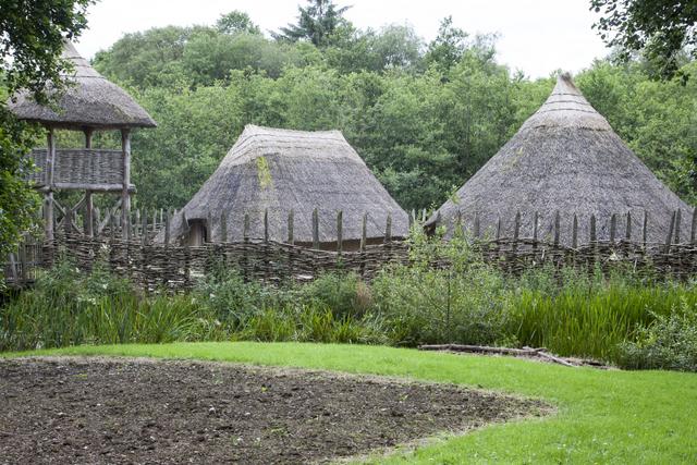 Places to visit in Clare. Craggaunowen Pre-Historic Folk Park, County Clare, Ireland.