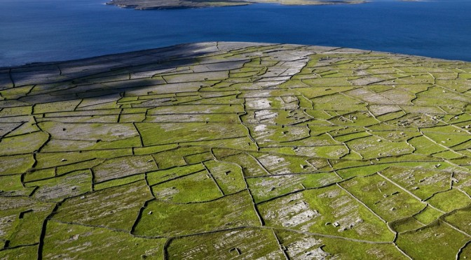 Aran Islands Arial View