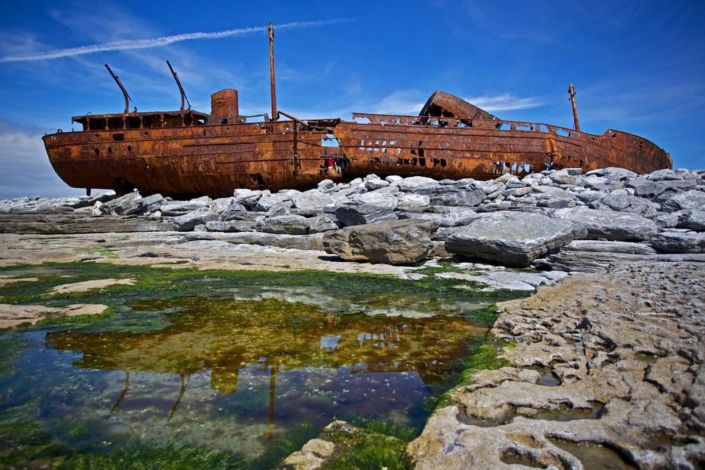 Plassey Wreck, Inisheer (Inis Oirr), Aran Islands