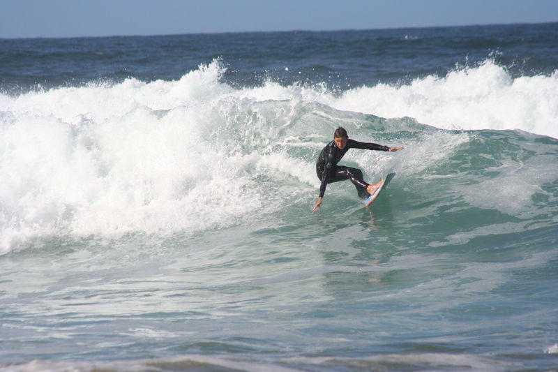 Surfing on Achill Island